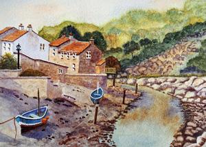 Watercolour thumbnail of Staithes Fishing Village
